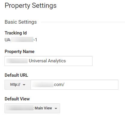 Property settings