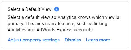 Select a Default View