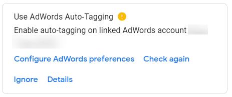 Use Adwords Auto Tagging