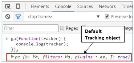 default tracking object
