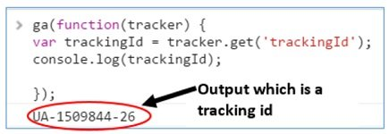 output tracking id