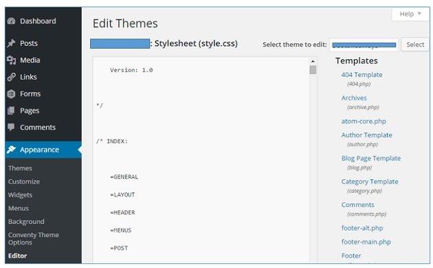 wordpress architecture edit themes