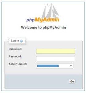 wordpress architecture welcome phpmyadmin