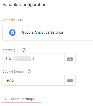 Analytics more setting variable