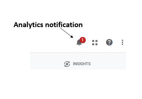 Analytics notification