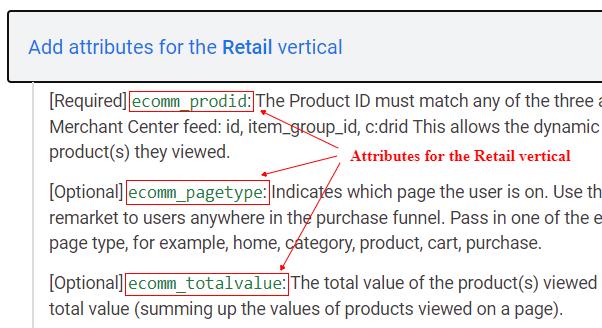 attributes of retail vertical