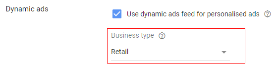 business type retail