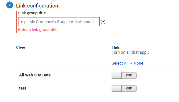 google ads analytics dont match Link Group title