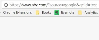 google ads analytics dont match address bar