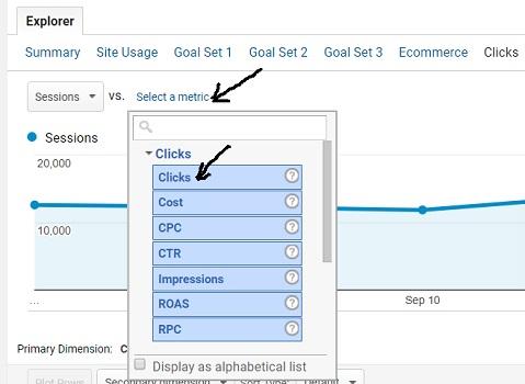 google ads analytics dont match select a metric