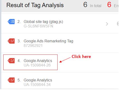 google analytics results