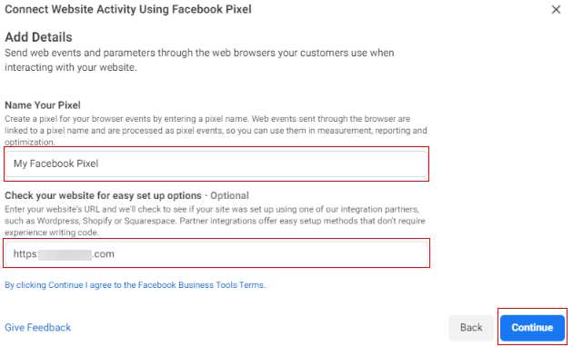 Connect Website Activity Using Facebook Pixel 1
