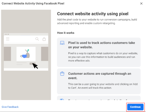 Connect Website Activity Using Facebook