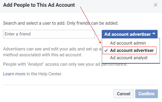 ad account advertiser