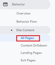 all pages report