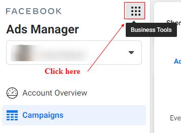 business tools menu button