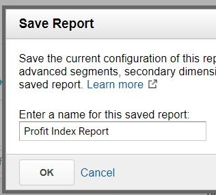 saved report