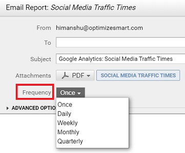 email report frequency