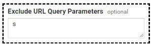 exclude search query parameter