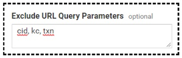 exclude url query parameters