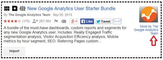 more by the google analytics team link