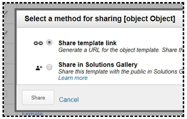 select method for sharing