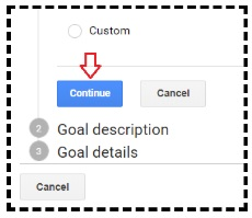 continue button