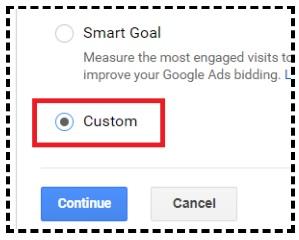 custom goal templates