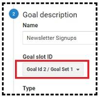 google analytics goal slot id