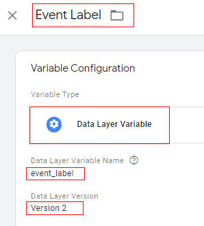 Event Label variable