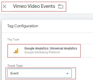 Vimeo tag events