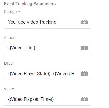 Youtube tag configuration 2