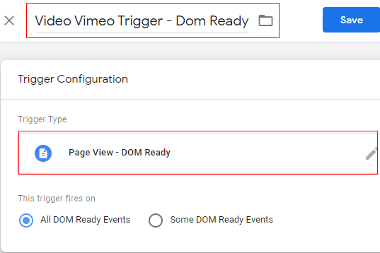 dom ready trigger