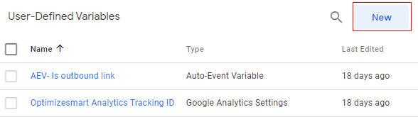 new user defined variabe
