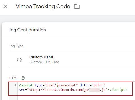 vimeo code in html