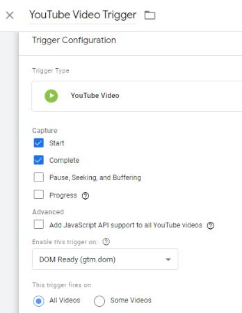 youtube trigger