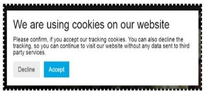 ga cookie consent we are using cookies 1