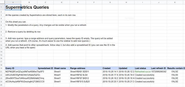 SupermetricsQueries sheet tab