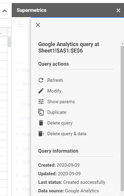 You should now be able to see the query information