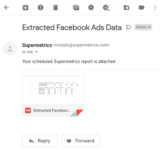 email notification from Supermetrics2