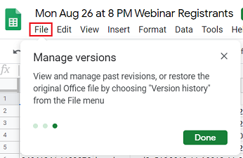 manage versions