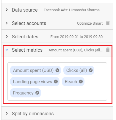 select metrics 1
