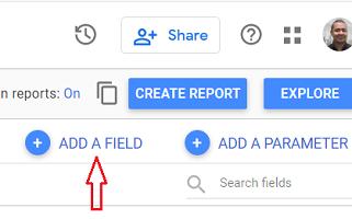 Add a field google data studio