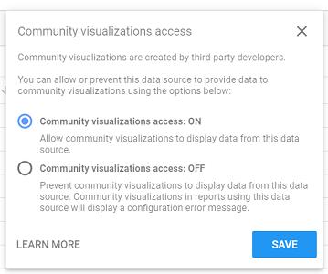Community visualizations access ON