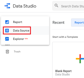 Data Source option