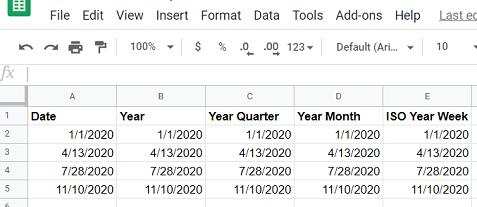 Google Sheets data source 2