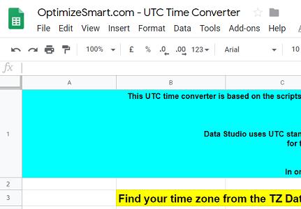 OptimizeSmart UTC Time Converter
