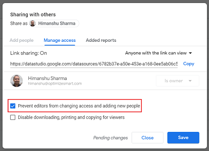 Prevent editors from changing access and adding new people