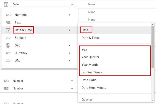 absolute date types in Google Data Studio