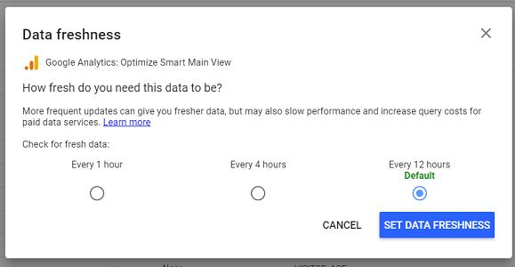data freshness google analytics